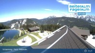 "Archived image Webcam Mountain hut village ""Almwelt Austria"" 05:00"