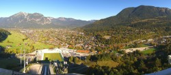 Archived image Webcam Garmisch-Partenkirchen - Great Olympic Hill of the ski stadium 09:00