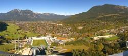 Archived image Webcam Garmisch-Partenkirchen - Great Olympic Hill of the ski stadium 11:00