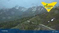 Archiv Foto Webcam Schladming - Bergstation Planaibahn 21:00