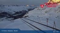 Archiv Foto Webcam Corvatsch Mittelstation Murtel 23:00