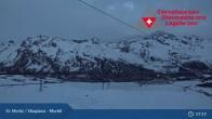 Archiv Foto Webcam Corvatsch Mittelstation Murtel 01:00