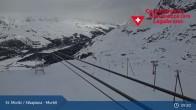 Archiv Foto Webcam Corvatsch Mittelstation Murtel 03:00