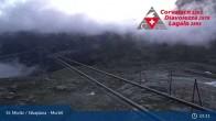 Archived image Webcam Corvatsch middle station Murtel 23:00