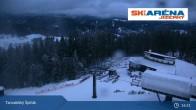 Archiv Foto Webcam Blick vom Gipfel des Tanvaldský Špičák ins Tal 21:00