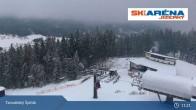 Archiv Foto Webcam Blick vom Gipfel des Tanvaldský Špičák ins Tal 05:00