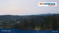 Archiv Foto Webcam Blick vom Gipfel des Tanvaldský Špičák ins Tal 09:00