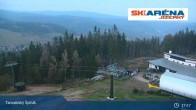 Archiv Foto Webcam Blick vom Gipfel des Tanvaldský Špičák ins Tal 19:00