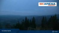 Archiv Foto Webcam Blick vom Gipfel des Tanvaldský Špičák ins Tal 01:00