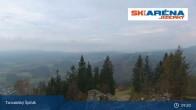 Archiv Foto Webcam Blick vom Gipfel des Tanvaldský Špičák ins Tal 03:00