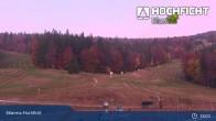 Archived image Webcam Ski Resort Hochficht - Kids' park 19:00