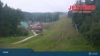 Archived image Webcam View from Stanice lanovky ČD, Liberec - Horní Hanychov 19:00
