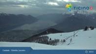Archiv Foto Webcam Minusio - Cimetta Bergstation 19:00
