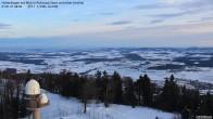 Archiv Foto Webcam Blick vom Hohenbogen Richtung Arber 02:00