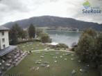 Archiv Foto Webcam Ossiacher See: Blick vom Hotel Seerose 02:00