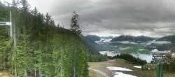 Archiv Foto Webcam Wettersteinbahn: Bergstation 3er Sessellift 02:00