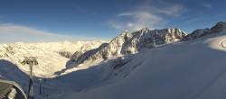 Archived image Webcam Schwarze Schneid Gondola Rettenbach Glacier 08:00