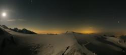 Archiv Foto Webcam Zermatt Kleinmatterhorn - Gletscherskigebiet 20:00