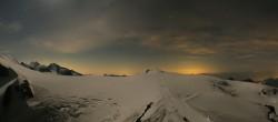 Archiv Foto Webcam Zermatt Kleinmatterhorn - Gletscherskigebiet 22:00
