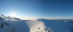 Archiv Foto Webcam Zermatt Kleinmatterhorn - Gletscherskigebiet 08:00