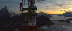 Archiv Foto Webcam Plateau Rosa Zermatt / Breuil Cervinia 05:00
