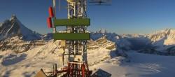 Archiv Foto Webcam Plateau Rosa Zermatt / Breuil Cervinia 10:00