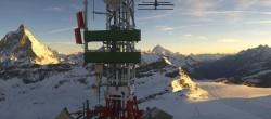 Archiv Foto Webcam Zermatt / Breuil Cervinia: Plateau Rosa 00:00