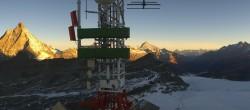 Archiv Foto Webcam Zermatt / Breuil Cervinia: Plateau Rosa 02:00