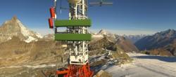 Archiv Foto Webcam Zermatt / Breuil Cervinia: Plateau Rosa 04:00