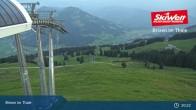 Archiv Foto Webcam Jochbahn Bergstation Brixen im Thale 19:00