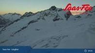 Archiv Foto Webcam Saas-Fee: Bergstation Längfluhbahn 19:00