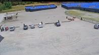 Archiv Foto Webcam Willingen: Auslauf der Mühlenkopfschanze und Zuschauerbereich 08:00