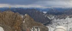 Archiv Foto Webcam Panoramablick Zugspitze 22:00