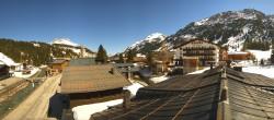 Archiv Foto Webcam Lech am Arlberg: Blick von Sport Strolz 06:00