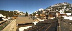 Archiv Foto Webcam Lech am Arlberg: Blick von Sport Strolz 08:00