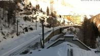 Archiv Foto Webcam Montenvers Bahnstation Chamonix 06:00