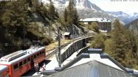 Archiv Foto Webcam Montenvers Bahnstation Chamonix 08:00