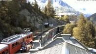 Archiv Foto Webcam Montenvers Bahnstation Chamonix 10:00