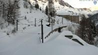Archiv Foto Webcam Montenvers Bahnstation Chamonix 02:00
