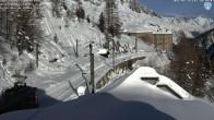 Archiv Foto Webcam Montenvers Bahnstation Chamonix 04:00