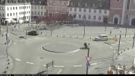 Archiv Foto Webcam Blick auf den Hahnplatz in Prüm mit der Basilika und der Abtei 06:00