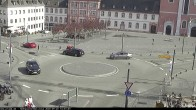 Archiv Foto Webcam Blick auf den Hahnplatz in Prüm mit der Basilika und der Abtei 08:00