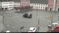 Archiv Foto Webcam Blick auf den Hahnplatz in Prüm mit der Basilika und der Abtei 04:00