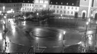 Archiv Foto Webcam Blick auf den Hahnplatz in Prüm mit der Basilika und der Abtei 16:00