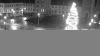 Archiv Foto Webcam Blick auf den Hahnplatz in Prüm mit der Basilika und der Abtei 20:00
