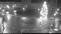 Archiv Foto Webcam Blick auf den Hahnplatz in Prüm mit der Basilika und der Abtei 22:00