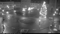 Archiv Foto Webcam Blick auf den Hahnplatz in Prüm mit der Basilika und der Abtei 00:00