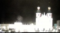 Archiv Foto Webcam Blick auf den Hahnplatz in Prüm mit der Basilika und der Abtei 14:00