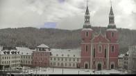 Archiv Foto Webcam Blick auf den Hahnplatz in Prüm mit der Basilika und der Abtei 12:00
