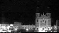 Archiv Foto Webcam Blick auf den Hahnplatz in Prüm mit der Basilika und der Abtei 18:00